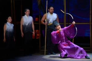 Daisuke Tsuji (far right) and members of the cast of La Jolla Playhouse's production of THE ORPHAN OF ZHAO photo by Kevin Berne
