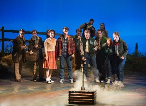 The cast of the West Coast premiere of October Sky. Photo by Jim Cox.