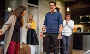 """The cast of """"Bad Jews"""" at The Cygnet Theatre"""
